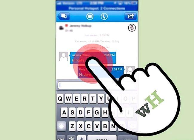 Prent getiteld Sien gespreksgeskiedenis op Lync op iOS Stap 5