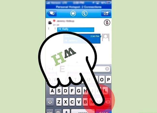 Prent getiteld Sien gespreksgeskiedenis op Lync op iOS Stap 6