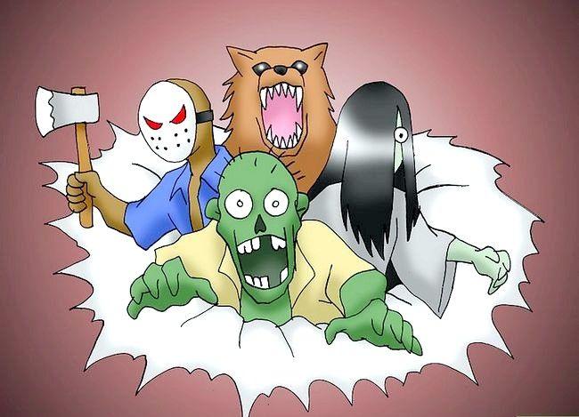Prent getiteld Stop bang wees nadat jy scary films gekyk het. Stap 13