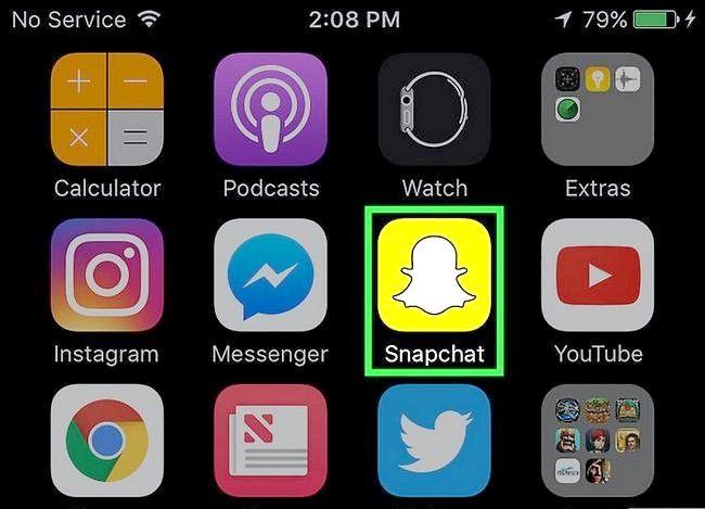 Prent getiteld Bekyk Snapchat Profiel Stap 1
