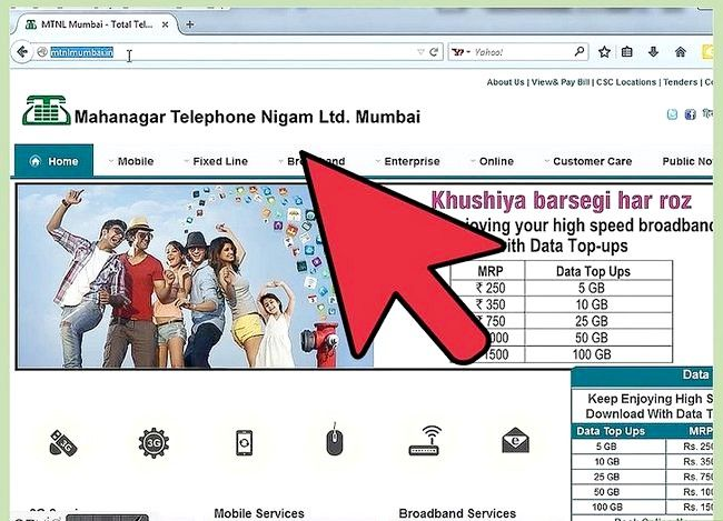 Hoe om die gebruik van internetdata in MTNL te verifieer