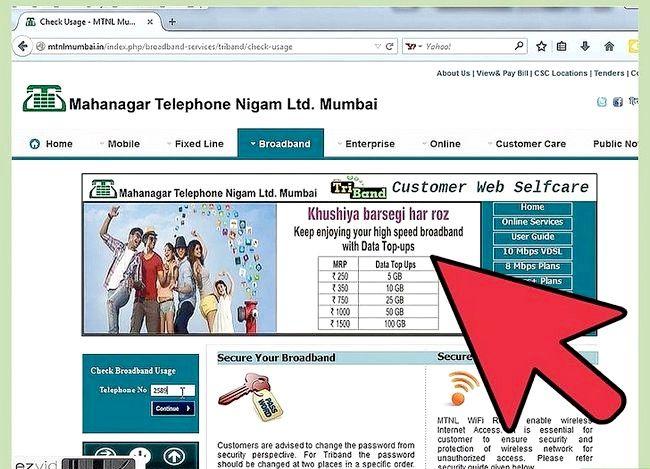 Prent getiteld Gaan Internet Data Gebruik in MTNL Stap 4