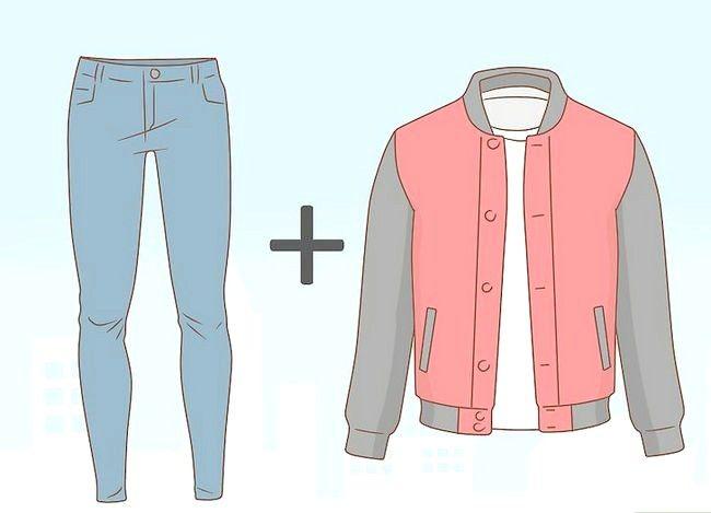 Prent getiteld Kyk Groot in Skinny Jeans Stap 12