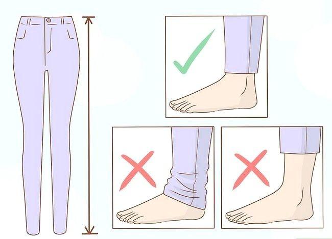 Prent getiteld Look Great in Skinny Jeans Step 2