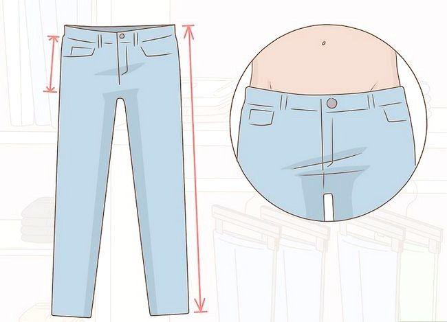 Prent getiteld Kyk goed in Skinny Jeans Stap 7