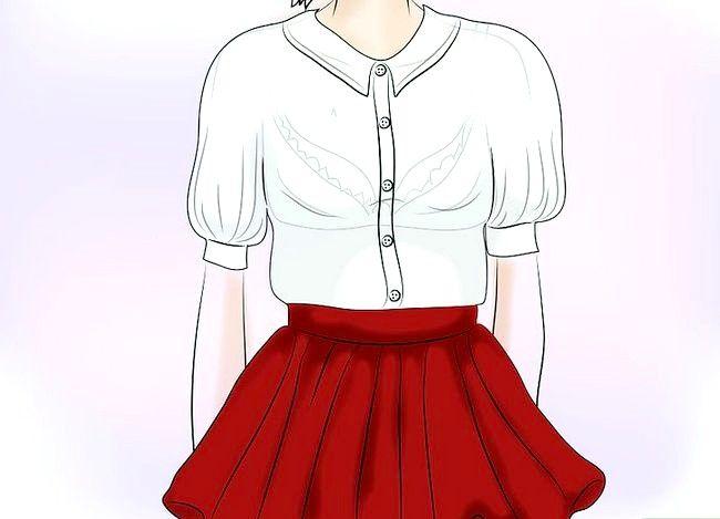 Prent getiteld Dra `n Velvet Skirt Stap 1