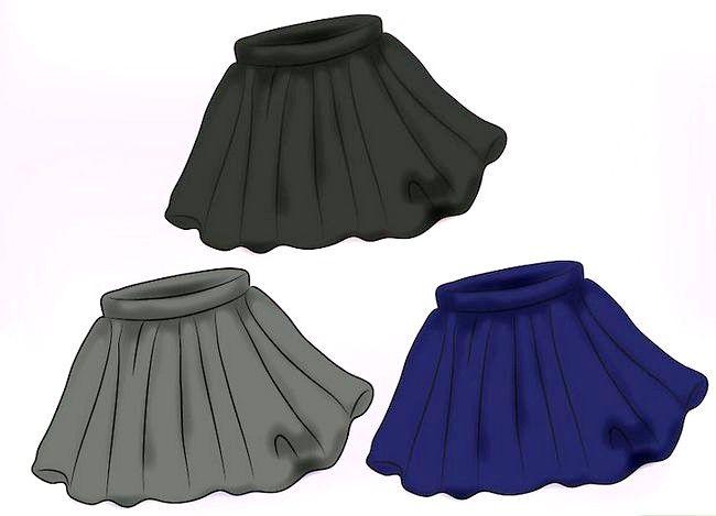 Prent getiteld Dra `n Velvet Skirt Stap 12