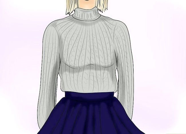 Prent getiteld Dra `n Velvet Skirt Stap 13