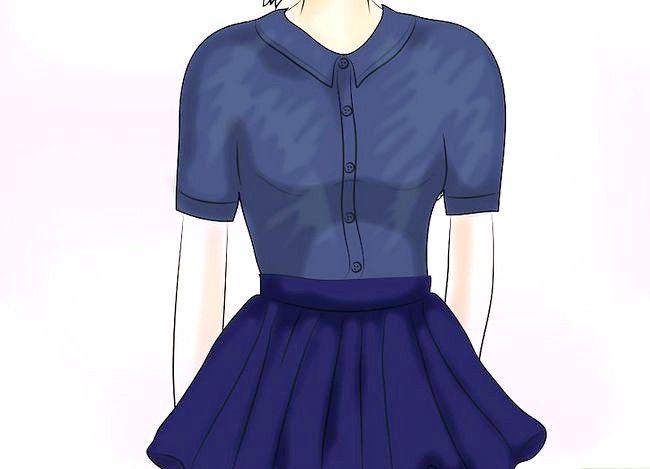Prent getiteld Dra `n Velvet Skirt Stap 14