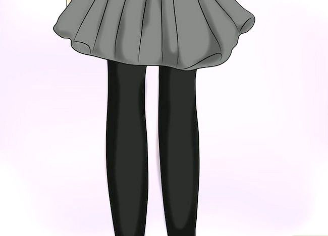 Prent getiteld Dra `n Velvet Skirt Stap 16