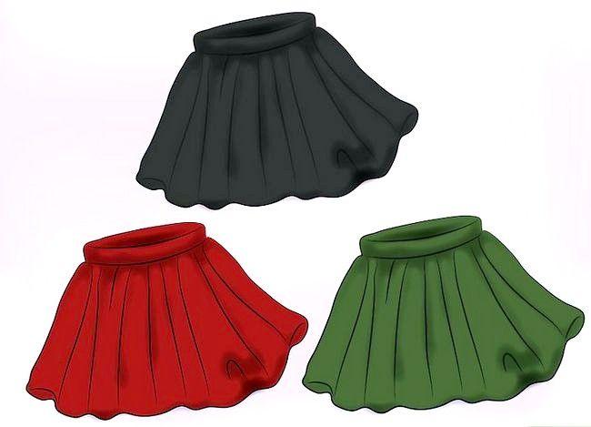 Prent getiteld Dra `n Velvet Skirt Stap 2