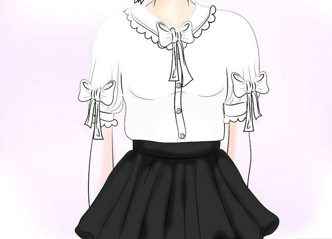 Prent getiteld Dra `n Velvet Skirt Stap 3