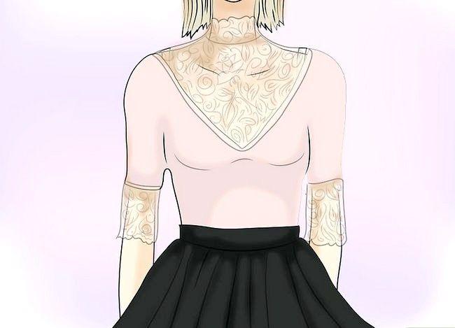 Prent getiteld Dra `n Velvet Skirt Stap 4