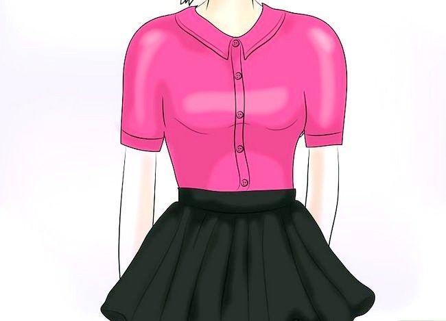 Prent getiteld Dra `n Velvet Skirt Stap 5