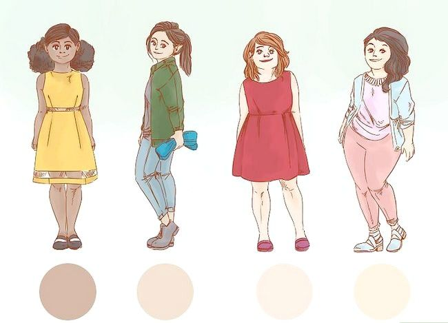 Prent getiteld Dress Nice Everyday (vir Girls) Stap 6