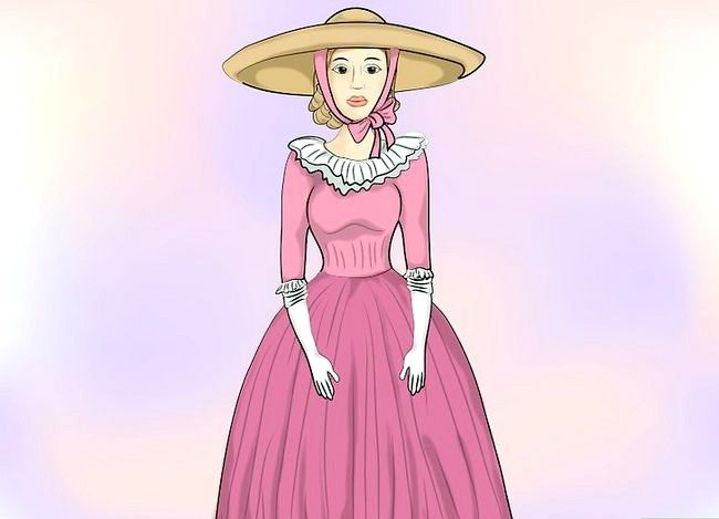 Prent getiteld Dress Like a Southern Belle Stap 13