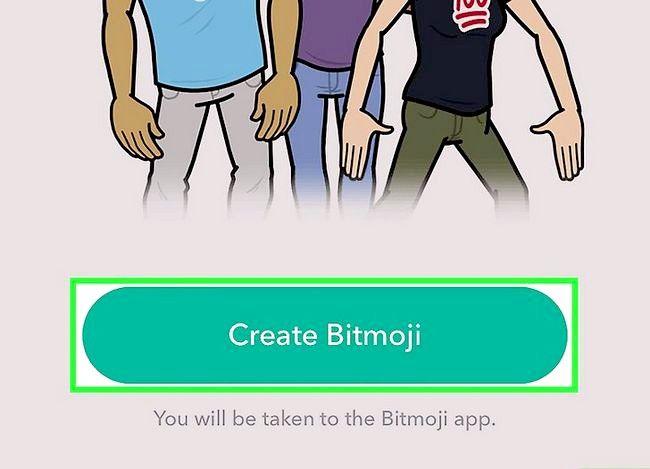 Prent getiteld Link Bitmoji met Snapchat Stap 4