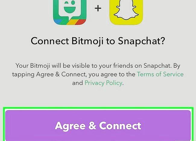 Prent getiteld Link Bitmoji met Snapchat Stap 8