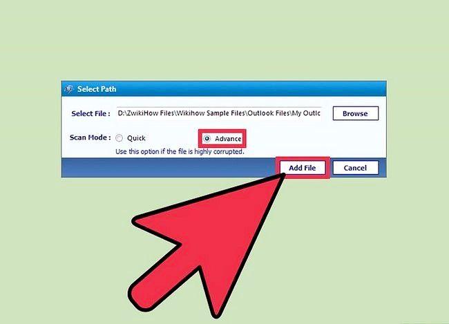 Beeld getiteld Sien `n PST-lêer sonder Outlook geïnstalleer gebruik met PST File Viewer Stap 3