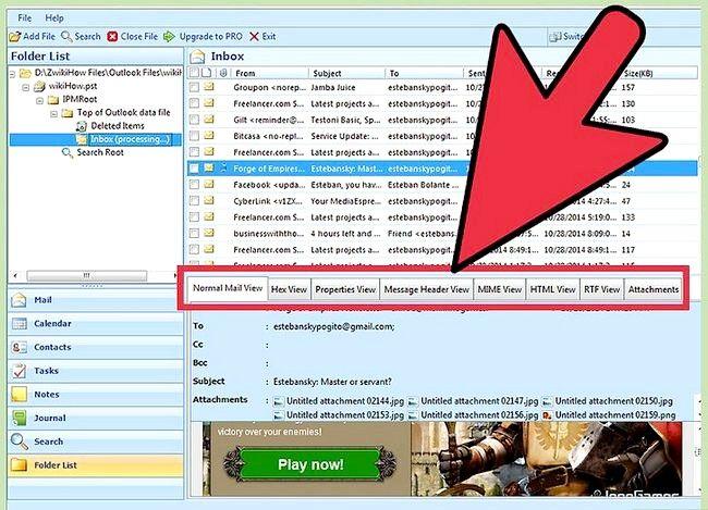 Beeld getiteld Bekyk `n PST-lêer sonder Outlook geïnstalleer Gebruik met PST File Viewer Stap 6
